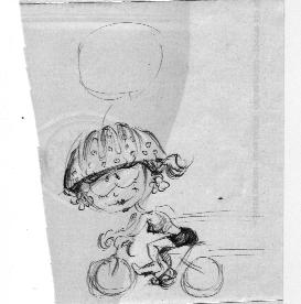 La cycliste qui accompagne son cher et tendre